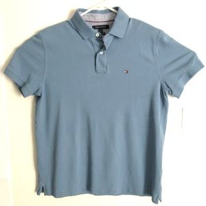 Tommy Hilfiger Men's Blue Polo Golf Shirt Large
